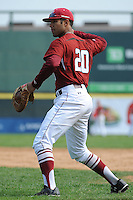Temple University Owls infielder Robert Amaro (20) during practice before a game against the University of Louisville Cardinals at Campbell's Field on May 10, 2014 in Camden, New Jersey. Temple defeated Louisville 4-2.  (Tomasso DeRosa/ Four Seam Images)
