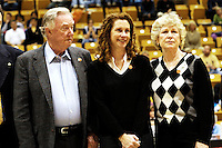 Pittsburgh coach and brother of late Army women's basketball coach Jamie Dixon brought his team to  West Point to play against Michigan. In a post game ceremony his parents &amp;#xA;accepted his sister's championship ring and the replica banner.<br />