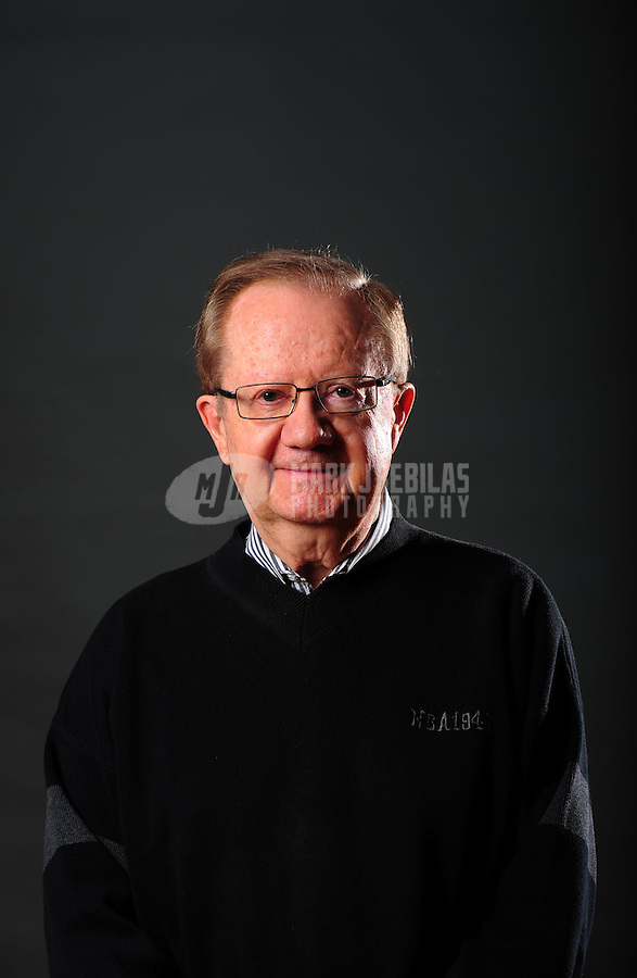 Dec. 16, 2011; Phoenix, AZ, USA; Phoenix Suns announcer Al McCoy poses for a portrait during media day at the US Airways Center. Mandatory Credit: Mark J. Rebilas-