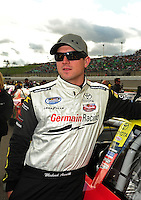 Oct. 3, 2009; Kansas City, KS, USA; NASCAR Nationwide Series driver Michael Annett during the Kansas Lottery 300 at Kansas Speedway. Mandatory Credit: Mark J. Rebilas-