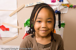 Education Preschool 4-5 year olds closeup portrait of smiling girl horizontal
