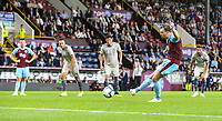 Burnley's Ashley Barnes scores his side's third from the penalty spot<br /> <br /> Photographer Alex Dodd/CameraSport<br /> <br /> UEFA Europa League - Europa League Qualifying Round 2 2nd Leg - Burnley v Aberdeen - Thursday 2nd August 2018 - Turf Moor - Burnley<br />  <br /> World Copyright © 2018 CameraSport. All rights reserved. 43 Linden Ave. Countesthorpe. Leicester. England. LE8 5PG - Tel: +44 (0) 116 277 4147 - admin@camerasport.com - www.camerasport.com