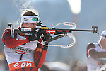 IBU Biathlon World Cup<br /> &copy; Pierre Teyssot <br />  Emil Hegle Svendsen (NOR) in action during the IBU Biathlon World Cup