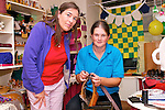 Crafter Elaine Waters (Garfinny, Dingle) with Louise Blake during a craft demonstration in Galleraí Beag, Dingle, as part of Culture Night on Friday.