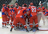 Russia defeated Finland 4-0 at the Urban Plains Center in Fargo, North Dakota, on Friday, April 17, 2009, in their semi-final match during the 2009 World Under 18 Championship.