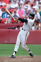 SAN FRANCISCO, CA - Will Clark of the San Francisco Giants in action during a game at Candlestick Park in San Francisco, California in 1990. Photo by Brad Mangin