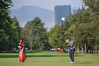 Shugo Imahira (JPN) hits his approach shot on 6 during round 2 of the World Golf Championships, Mexico, Club De Golf Chapultepec, Mexico City, Mexico. 2/22/2019.<br /> Picture: Golffile | Ken Murray<br /> <br /> <br /> All photo usage must carry mandatory copyright credit (&copy; Golffile | Ken Murray)
