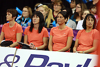 11.07.2010 Magic's bench in action during the ANZ Champs Final netball match between the Magic and Tunderbirds played at the Adelaide Entertainment Centre in Adelaide. ©MBPHOTO/Michael Bradley