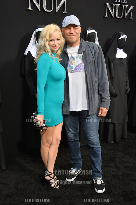 "LOS ANGELES, CA. September 04, 2018: Randy Couture & Mindy Robinson at the world premiere of ""The Nun"" at the TCL Chinese Theatre, Hollywood."