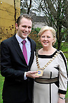 Mary MacMonagle, The Malton Hotel, Killarney receives the chain of office as President of SKAL, Killarney from outgoing president Jason Clifford, The Dunloe Castle Hotel at the SKAL agm in the Killarney Park Hotel this week..Skal is a professional organisation of tourism leaders around the world, promoting global tourism and friendship. It is the only international group uniting all branches of the travel and tourism industry. Its members, the industry's managers and executives, meet at local, national, regional and international levels to discuss and pursue topics of common interest..Picture by Don MacMonagle...PR PHOTO FROM SKAL