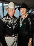 Dick Anderson and Michelle Beale at the Nature Conservancy's Nature Rocks  Gala at the Houston Polo Club Thursday Oct. 22,2015.(Dave Rossman photo)
