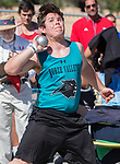 North Valley's Matthew Sneed competes in the boys shot put during the Reed Sparks Rotary Invitational track and field event at Reed High School in Sparks, Saturday, April 1, 2017.