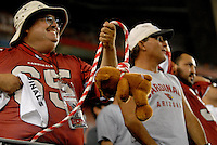 Oct. 16, 2006; Glendale, AZ, USA; Arizona Cardinals fans cheer during the game against the Chicago Bears at University of Phoenix Stadium in Glendale, AZ. Mandatory Credit: Mark J. Rebilas