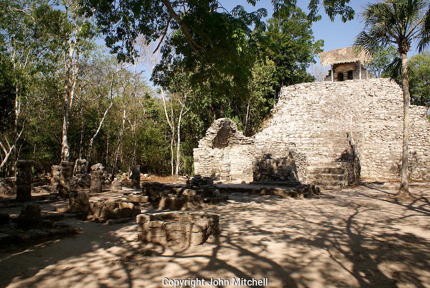 Las Pinturas group at the Mayan ruins of Coba, Quintana Roo, Mexico.