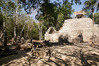 Las Pinturas group at the Mayan ruins of Coba, Quintana Roo, Mexico.