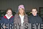 Jessica O'Leary Ballyhar, Linda And Ali O'Meara Killorglin enjoying International Showjumper Cian O'Connor display in Faha on Saturday evening