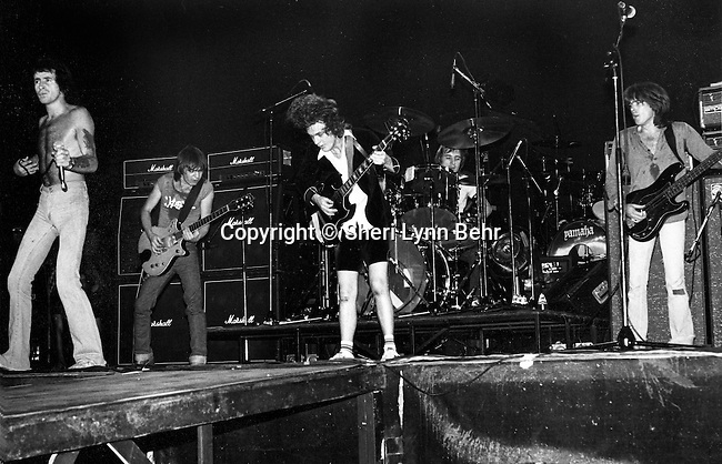 AC/DC at the Palladium, NYC in August 1978