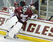 Steven Whitney (BC - 21), Paul Dainton (UMass - 31) - The Boston College Eagles defeated the University of Massachusetts-Amherst Minutemen 6-5 on Friday, March 12, 2010, in the opening game of their Hockey East Quarterfinal matchup at Conte Forum in Chestnut Hill, Massachusetts.
