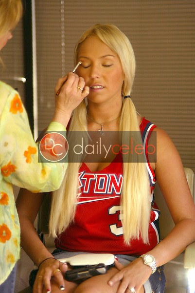 "Mary Carey in the make-up room at MSNBC's ""Countdown with Keith Olberman""<br />