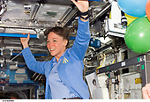 FILE: In this photo released by NASA, Astronaut Lisa M. Nowak, STS-121 mission specialist, smiles at a crew mate in the Destiny laboratory of the International Space Station in Earth orbit on July 6, 2006.<br /> Credit: NASA via CNP