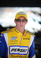 Nov. 21, 2009; Homestead, FL, USA; NASCAR Nationwide Series driver Parker Kligerman during qualifying for the Ford 300 at Homestead Miami Speedway. Mandatory Credit: Mark J. Rebilas-