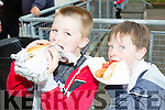 Enjoying a hotdog were Killian O'Brien and Ryan Walsh at  the Shanakill Family Fun Day Fundraiser for Shanankill Family Resource Centre, Tralee on Friday