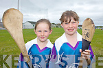 CLASH OF THE ASH: Ava Griffin and Leanna Roche enjoying the GAA Cu?l Camp at Ballyheigue on Friday.
