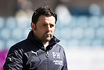 Dundee v St Johnstone...25.04.15   SPFL<br /> Dundee manager Paul Hartley<br /> Picture by Graeme Hart.<br /> Copyright Perthshire Picture Agency<br /> Tel: 01738 623350  Mobile: 07990 594431