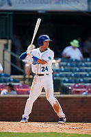 Lexington Legends center fielder Marten Gasparini (24) at bat during a game against the Rome Braves on May 23, 2018 at Whitaker Bank Ballpark in Lexington, Kentucky.  Rome defeated Lexington 4-1.  (Mike Janes/Four Seam Images)