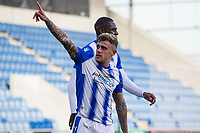 Sammie Szmodics of Colchester United acknowledges his opening goal during Colchester United vs Crawley Town, Sky Bet EFL League 2 Football at the JobServe Community Stadium on 13th October 2018