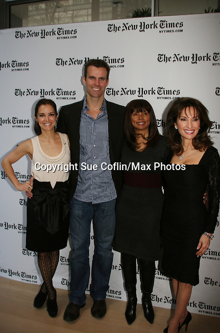 Rebecca Budig - Cameron Mathison - Debbi Morgan - Susan Lucci - All My Children at 40 celebrate on January 10, 2010 at the New York Times Arts & Leisure Weekend at the TimesCenter Stage, New York City, New York. (Photo by Sue Coflin/Max Photos)