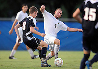 Florida International University men's soccer player Joseph Dawkins (4) plays against Florida Atlantic University on August 28, 2011 at Miami, Florida.  The game ended in a 1-1 overtime tie. .