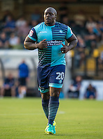 Adebayo Akinfenwa of Wycombe Wanderers during the Sky Bet League 2 match between Wycombe Wanderers and Accrington Stanley at Adams Park, High Wycombe, England on 16 August 2016. Photo by Andy Rowland.