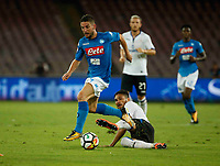 Dries Mertens  during the  italian serie a soccer match,between SSC Napoli and Atalanta      at  the San  Paolo   stadium in Naples  Italy , August 27, 2017