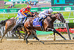 JUNE 08, 2019 : Mitole, with Ricardo Santana Jr, wins the Metropolitan Handicap, at Belmont Park, in Elmont, NY, June 8, 2019.  Sue Kawczynski_ESW_CSM