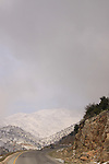 Golan Heights, the road to the peak of Mount Hermon