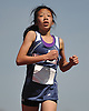 Jennifer Mui, a seventh grader from Byram Hills, legs out a victory in the girls 3,000 meter run during the Cougar Invitational held at Bellmore JFK High School on Saturday, Apr. 16, 2016. She finished with a time of 10:53.1.