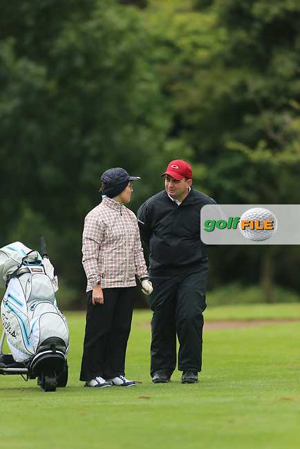 Heather Mitchel and Cathal Patton (Strabane) during the Ulster Mixed Foursomes Final, Shandon Park Golf Club, Belfast. 19/08/2016<br /> <br /> Picture Jenny Matthews / Golffile.ie<br /> <br /> All photo usage must carry mandatory copyright credit (&copy; Golffile | Jenny Matthews)