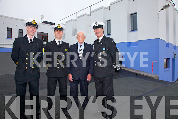 Pictured at the blessing of the Valentia Radio Station on Wednesday were l-r; John Draper(Acting Divisional Controller), Liam Flynn(Captain CHC), Tom Buckley(Retired Radio Officer 1965-93) & Tony Donnelly(Waterville Coast Guard).