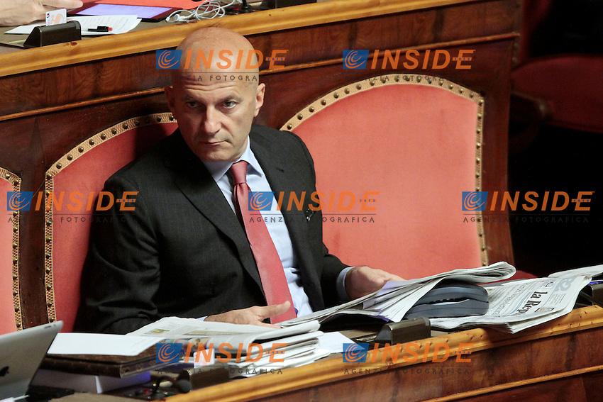 Augusto Minzolini.Roma 21/05/2013 Senato. Il Premier riferisce al Senato sul consiglio UE..Italian Premier's speech at the Senate about UE..Photo Samantha Zucchi Insidefoto