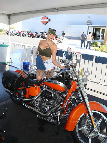 13 August 2016 - Las Vegas, Nevada - Girls of Crazy Horse III. Crazy Horse III Gentleman's Club and Harley-Davidson Motorcycles host Bikini Bike Wash to benefit the Douglas J. Green memorial Foundation at Las Vegas Harley-Davidson Motorcycles. Photo Credit: MJT/AdMedia