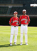 August 17 2008:  Kelly Kulina and Doug Glanville of the Team One team during the 2008 Under Armour All-American Game at Wrigley Field in Chicago, Illinois.  (Copyright Mike Janes Photography)