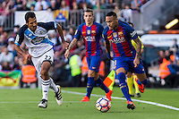 Deportivo de La Coru?a's Celso Borges and FC Barcelona's Neymar Santos Jr during the La Liga match between Futbol Club Barcelona and Deportivo de la Coruna at Camp Nou Stadium Spain. October 15, 2016. (ALTERPHOTOS/Rodrigo Jimenez) NORTEPHOTO.COM