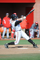 Rutgers Scarlet Knights infielder Christian Campbell (8) during game game 2 of a double header against the University of Houston Cougars at Bainton Field on April 5, 2014 in Piscataway, New Jersey. Houston defeated Rutgers 9-1.      <br />  (Tomasso DeRosa/ Four Seam Images)
