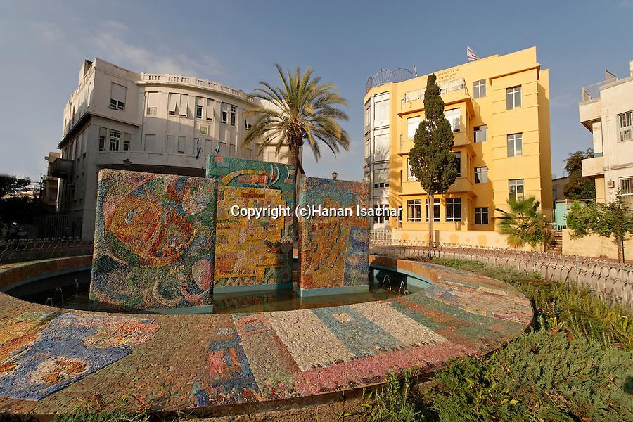 Israel, Bialik Square in Tel Aviv