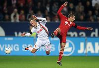 FUSSBALL   1. BUNDESLIGA  SAISON 2011/2012   12. Spieltag FC Augsburg - FC Bayern Muenchen         06.11.2011 Tobias Werner (li, FC Augsburg) gegen Rafinha (FC Bayern Muenchen)