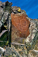 She-Who-Watches or (Tsagaglalal) pictograph along Columbia River in Klickitat County, Washington