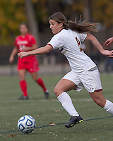 Boston College forward Stephanie McCaffrey (9) on the attack.  Boston College defeated Marist College, 6-1, in NCAA tournament play at Newton Campus Field, November 13, 2011.