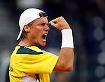 Tenis, Davis Cup, .Serbia Vs. Australia.Janko Tipsarevic Vs. Lleyton Hewitt.Belgrade, 21.09.2007..foto; Srdjan Stevnovic