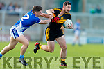 Daithi Casey Dr Crokes in action against Karl Mullins  Kerins O'Rahillys in the Kerry Senior Football County Championship Semi Final between Dr Crokes and Kerins O'Rahillys at Austin Stack Park on Sunday.